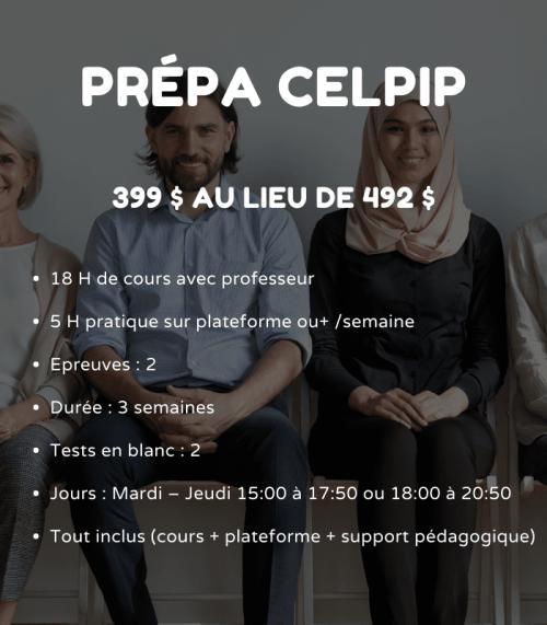 Inscription préparation au CELPIP