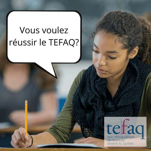 Prépa TEFaQ 2 Novembre 2021