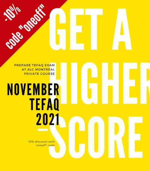 cours individuel préparation examen TEFAQ